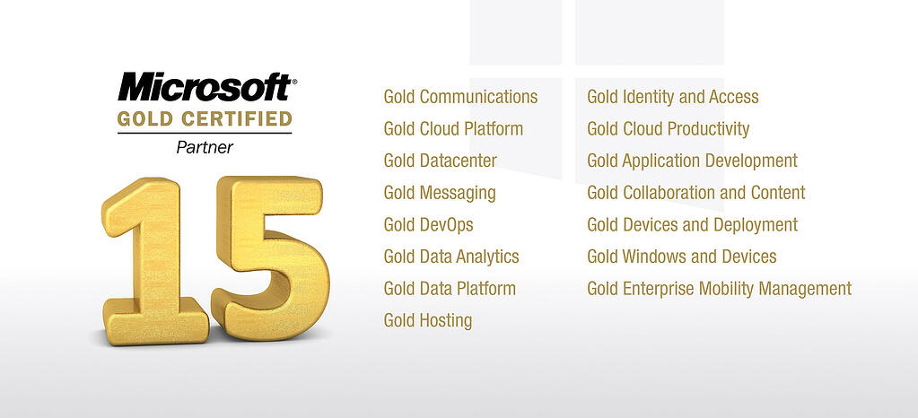 KiZAN Gold Competencies for Microsoft