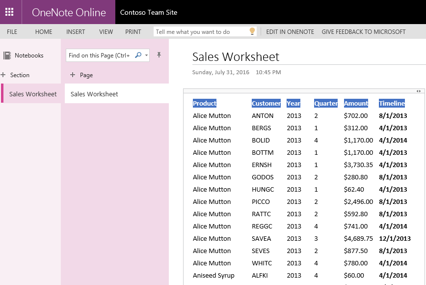 OneNote Linked to Microsoft Dynamics CRM