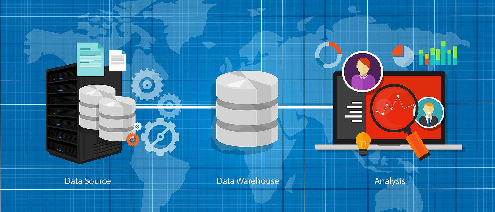 a description of the use of data warehouse in decision making process