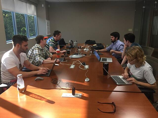 Saturday morning hackathon to develop new online system